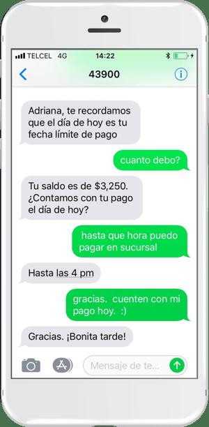 SMS conversacional para cobranza con MO costo cero