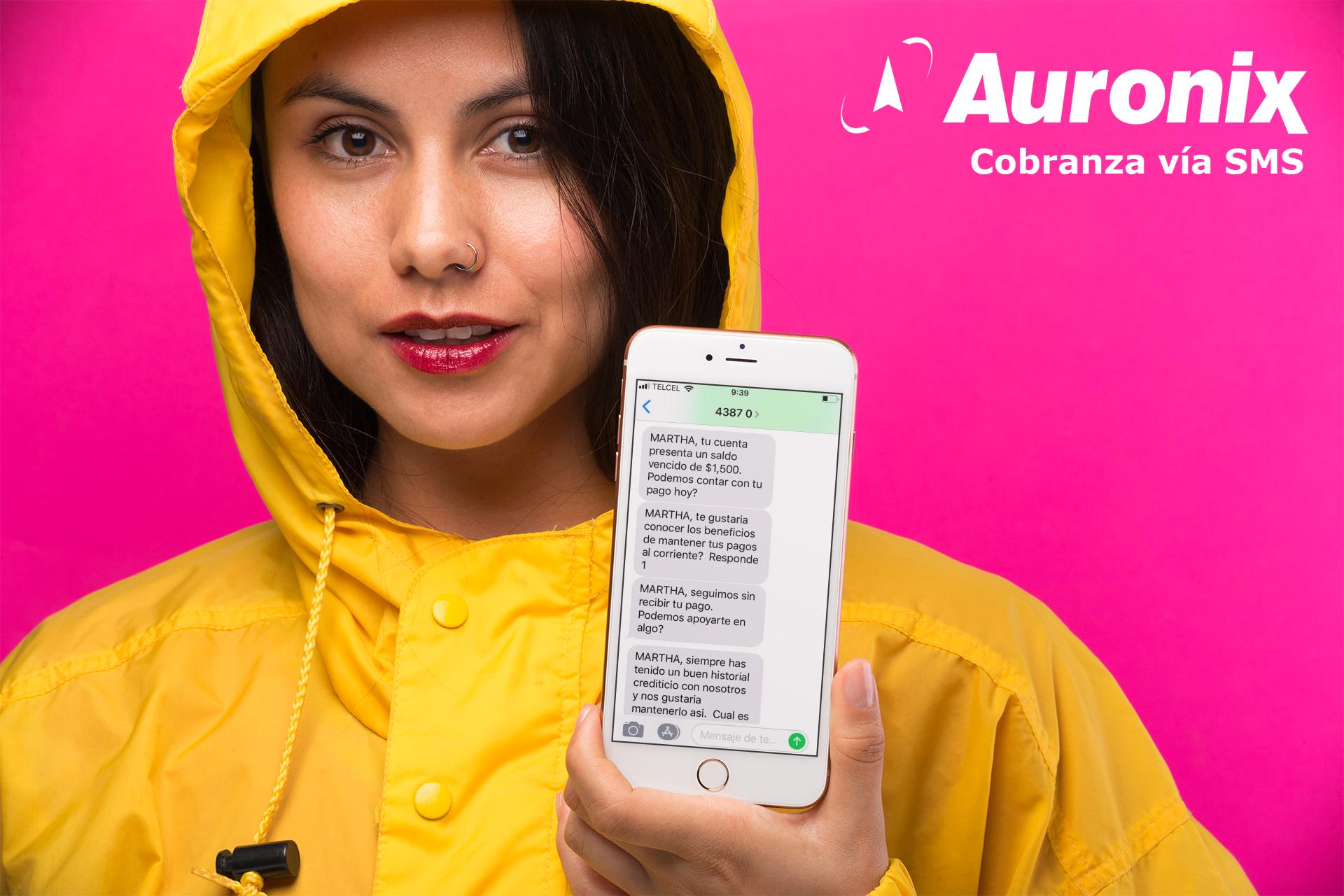 sms cobranza via texto insistente con calixta de auronix-1