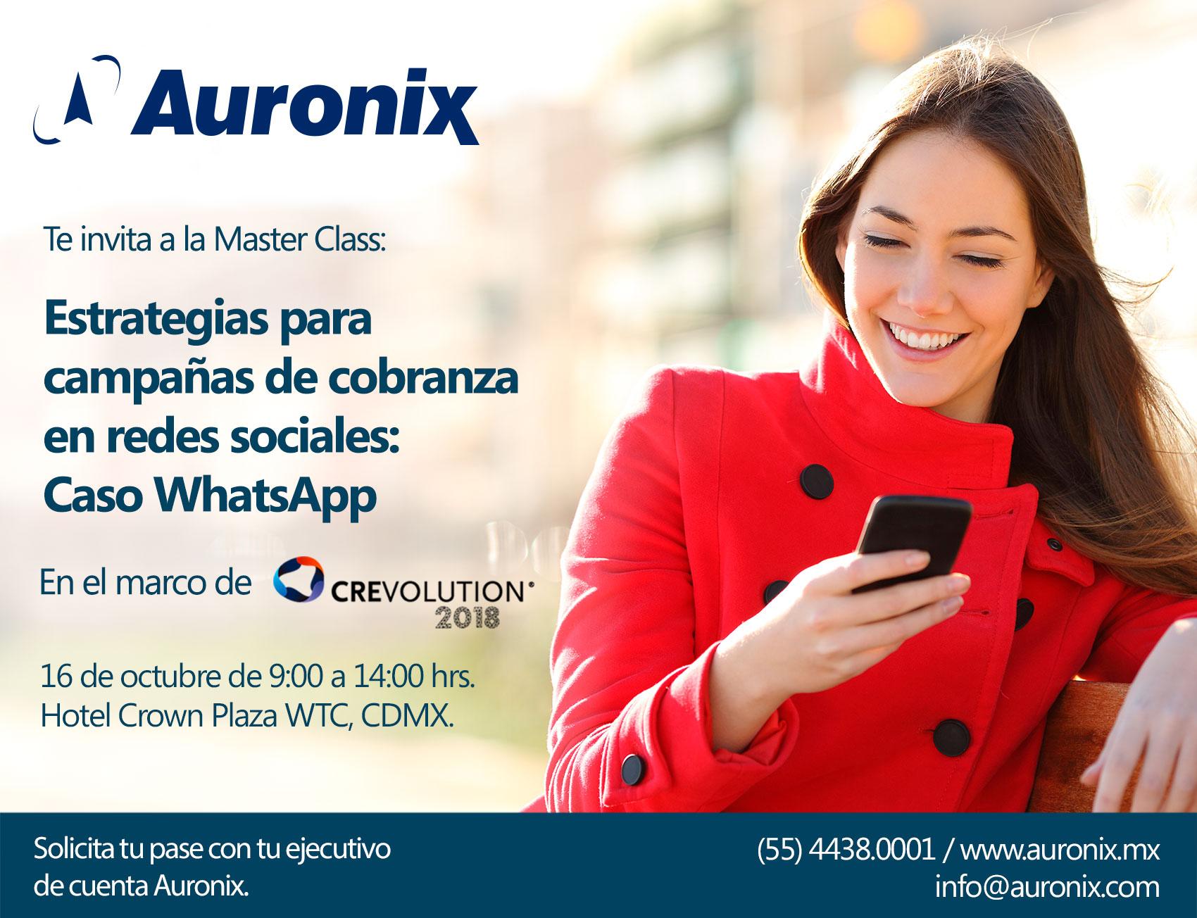 Auronix-Master-Class-precongreso Crevolution