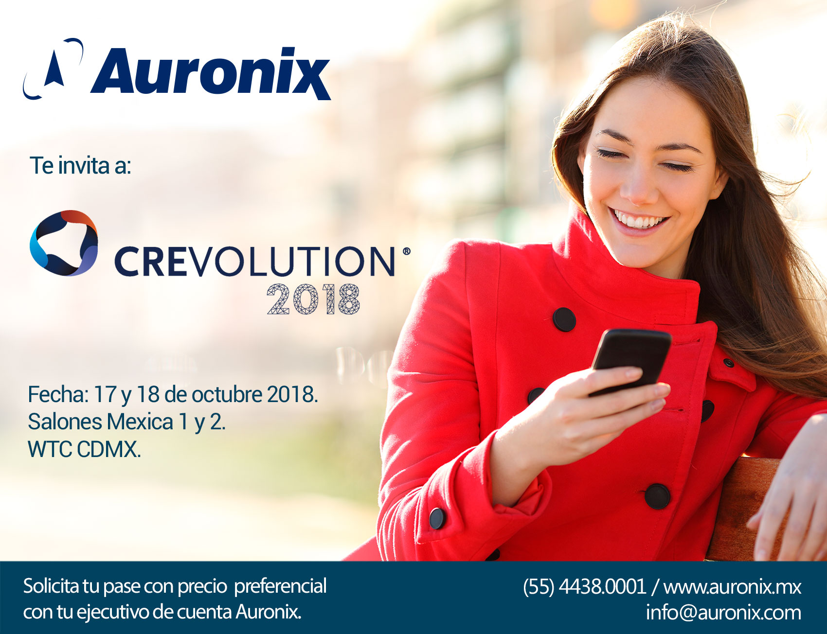 Auronix te invita a Crevolution 2018