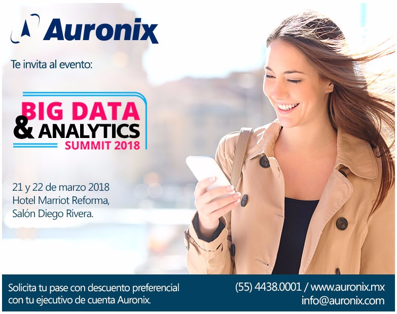 Auronix te invita al Big Data & Analytics Summit 2018